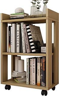 RKY Estanteria de Libros Estantería de Madera Moderna y Minimalista Moderna con Ruedas, Estante Desmontable, Estante Simple, Estante 45X24X67cm (Seis Colores Disponibles) Estante de Almacenamiento