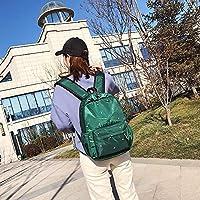 林小フットプリント柄防水オックスフォード布のショルダーバックパックカジュアルハンドバッグショルダーバッグ(ブラック) Chenhuis (Color : Green)