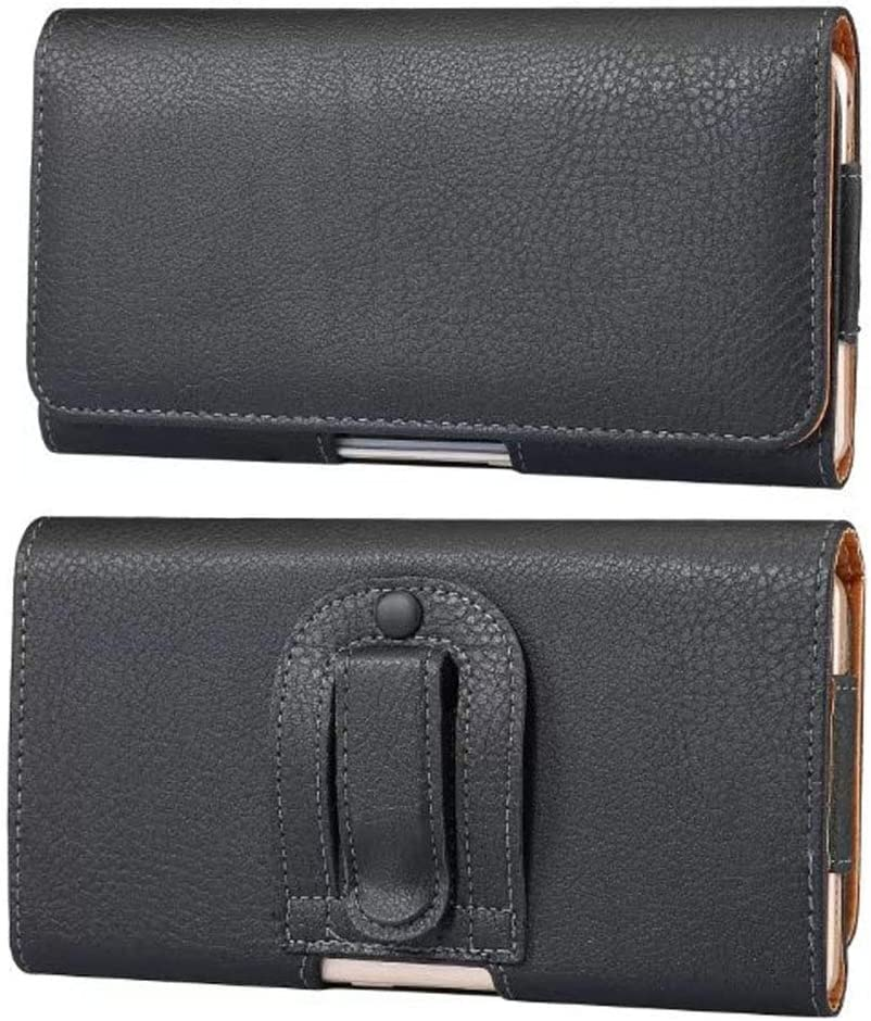 PU Leather Cell Phone Holster Belt Clip Case Pouch Holder for Galaxy Note 10+, Note 9, S20 Ultra,S20 Plus, S10 Lite, A71 A50 A20s, Google Pixel 3a XL,4 XL,3 XL, OnePlus 7T, Moto G Power, LG Stylo 5/4