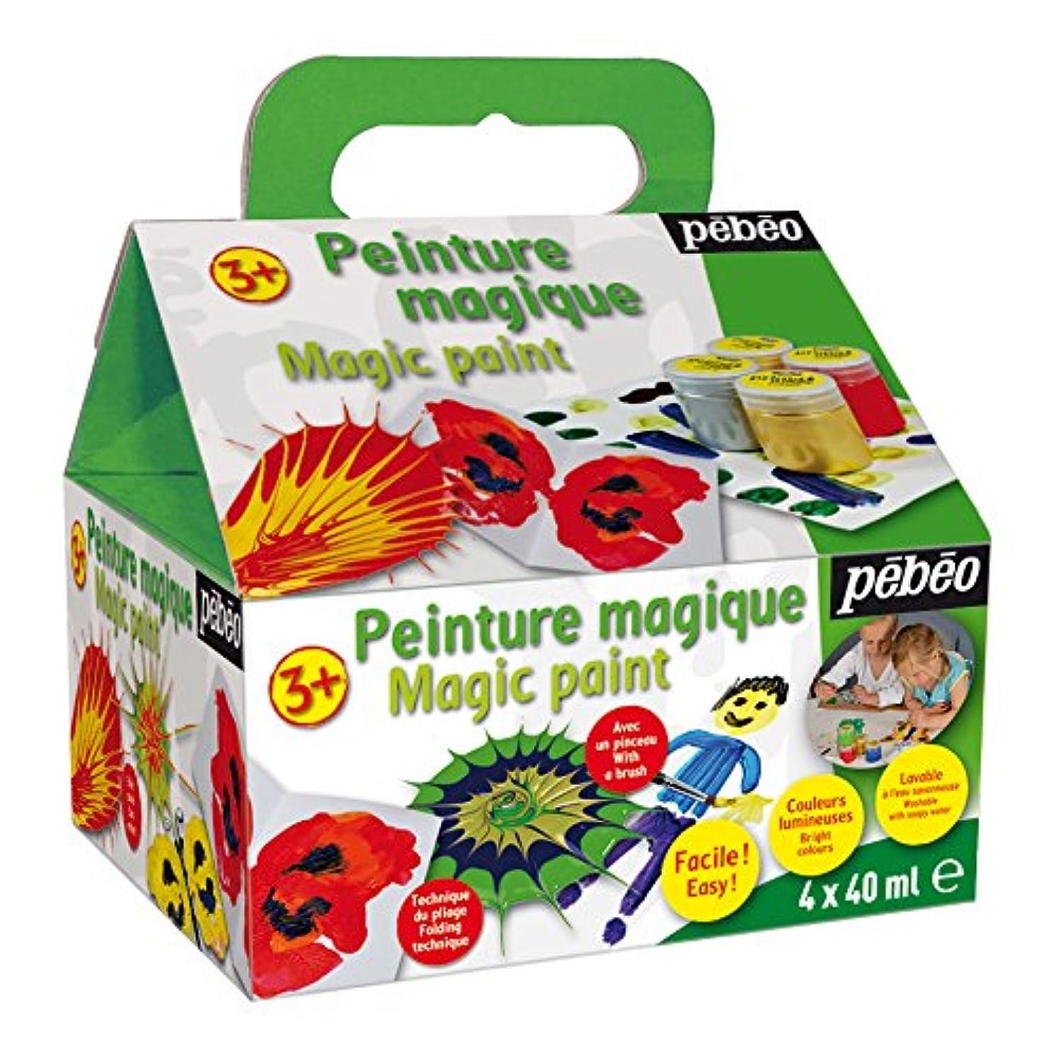 Pébéo Prima Magic 059400 Beginners' Painting Set with 4X 40 ml Paint Pots