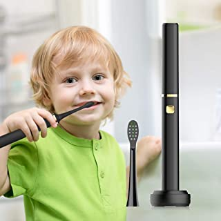 Leyoung Travel Portable Electric Toothbrush, Sonic Vibrating Toothbrush for Teens Adult and Kids with 5 Modes Smart Timer Rechargeable Electric Toothbrush, IPX7 Waterproof (Black)