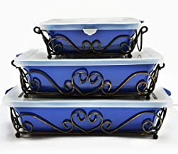 Temptations 9-Piece Bella Bakeware Set- Blue