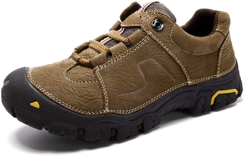 Fuxitoggo Mens Mount Mid Wanderschuhe Schuhe Breathable Lace Up Wandern Trekking (Farbe   Khaki, Gre   EU 45)