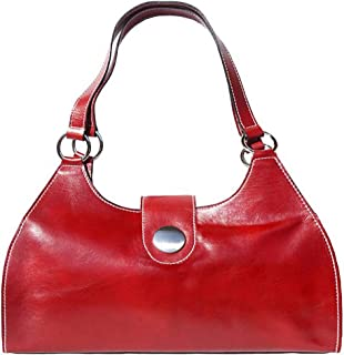 FLORENCE LEATHER MARKET Borsa Rossa a spalla in pelle donna 40x15x23 cm - Florina Gm - Made in Italy