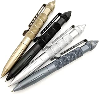 Y.T. CHIC Tactical Pen Self Defense Pen with Glass Breaker, Multi-Function Survival Tool Everyday Carry Pen (gold)