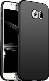 Galaxy s6 ケース 耐衝撃 ギャラクシーs6ケース SC-05G ハードケー 品質保証 薄 おしゃれ 携帯カバー (s6, ブラック)