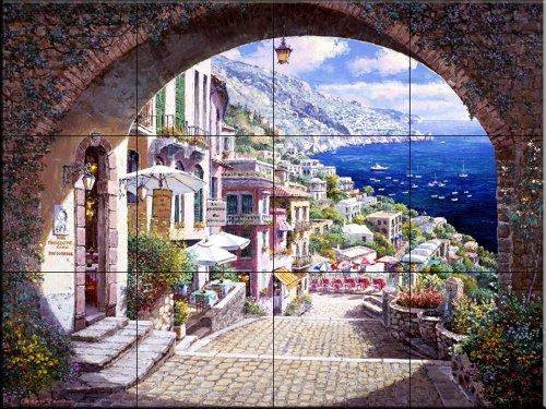 Murale di piastrelle di ceramica - Archway Positano p1570 1 - da Sam Parco/Soho Editions - splashback Cucina/doccia Bagno