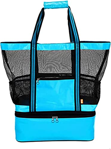 lowest Cooling Beach Bag Mesh Bach Bag with Detachable Tote Cooler Large Mesh Beach Tote Bag with Insulated Picnic Cooler Leak-proof for discount Beach Pool Outdoor sale Trave Gym Detachable Pool Bag Zippered online sale