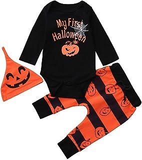 MYONA Disfraz de Halloween para Ni/ñas Bebe Traje de Tul Falda Tut/ú Vestido de Fiesta con M/áscara de Calabaza Naranja 12M-12T