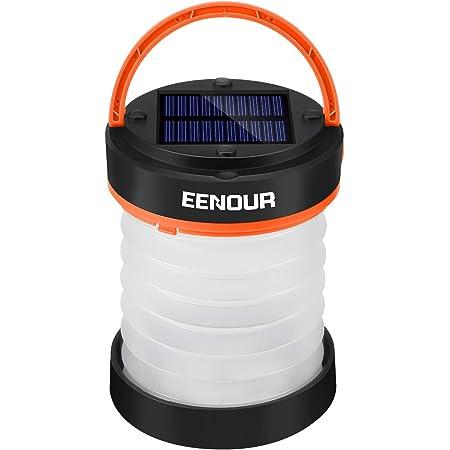 EENOUR LEDランタン ソーラーランタン USB充電式 キャンプランタン 高輝度 3段階調光 モバイルバッテリー機能 折り畳み 懐中電灯 キャンプ アウトドア 停電 防災対策