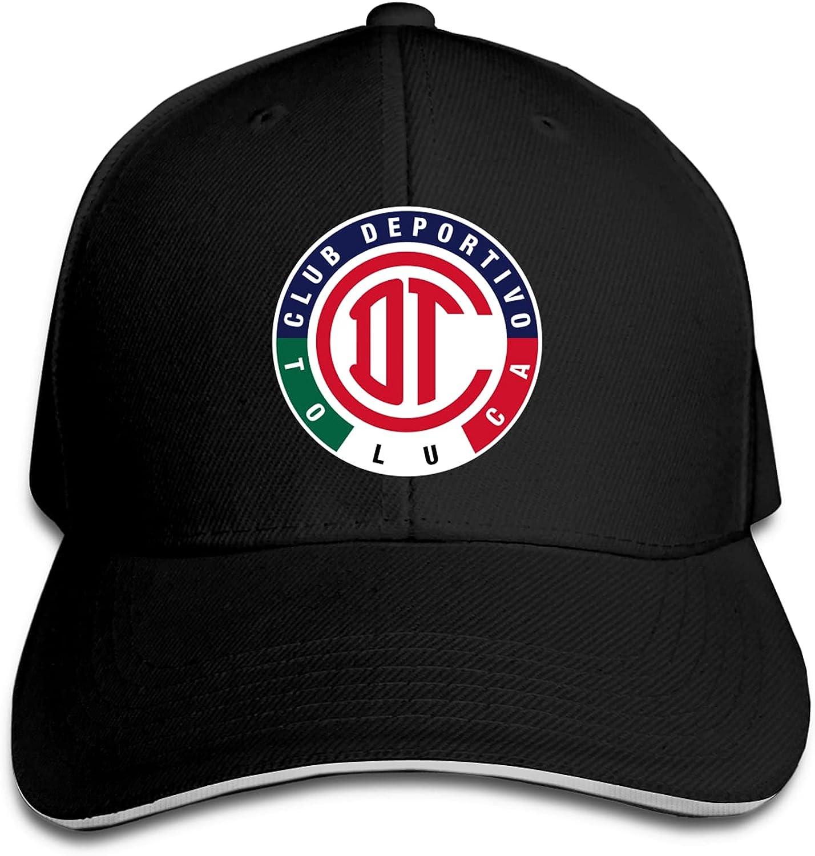 Deportivo Toluca F.C Unisex Sandwich Baseball Cap Adjustable Snapback Hat Outdoor Hat