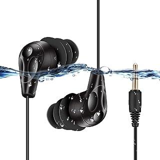 comprar comparacion AGPTEK E11-Auriculares Sumergibles Acuaticos Impermeables IPX8 para Natacion Piscina Baño Playa y Mp3 Acuaticos, Color Negro