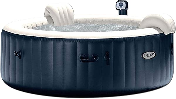 Intex Pure Spa 6 Person Inflatable Portable Heated Bubble Hot Tub 28409E