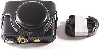 SONY DSC RX100M3 Cyber-shot 専用 高級合皮レザー カメラケース ネックストラップ,クリーニングクロス付き ソニー サイバーショット 220_1 (ブラック)