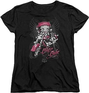 Cartoon Biker Babe Women's T-Shirt Tee