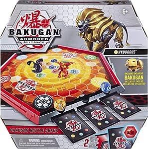 BAKUGAN, Game Board with, for Ages 6 and Up Battle Arena, Juego de Mesa con Exclusivo, Edades de 6 años en adelante, Color Gris (Spin Master 6056040)