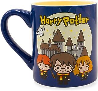 Silver Buffalo HP142632 Harry Potter Trio Scene Ceramic Mug, 14-Ounce, Blue