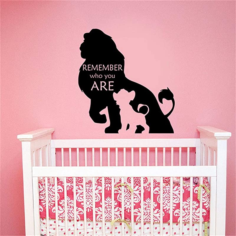 Wall Decal Sticker Wall Decal Remember Who You Are Lion King Quote Vinyl Sticker Decor Nursery Decor For Kids Rooms Art Decor Quote Poster