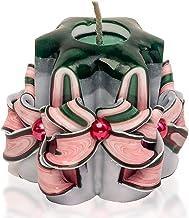 شموع عيد الميلاد - شموع صغيرة - شموع منحوتة - أبيض وردي أحمر أخضر 2.5 بوصة - شموع شجرة عيد الميلاد - شموع صغيرة الحجم - شم...