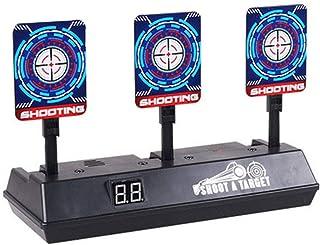 fan pin dian zi Ejecutarse De Los Niños Blancos De Tiro De Puntuación Electrónica Autoreiniciable Objetivos Digitales para Nerf Armas De Juguete Juego