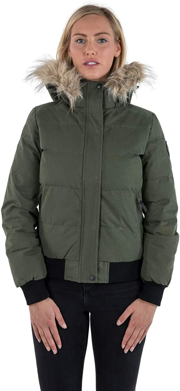 Trespass Kendrick DLX Women`s Down Jacket Waterproof Bomber Jacket