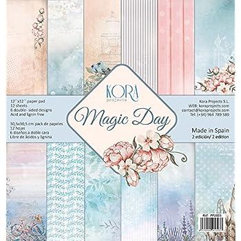 Pack (12) Papeles Scrapbooking Magic Day (30,5 x 30,5 cm): Amazon.es: Hogar