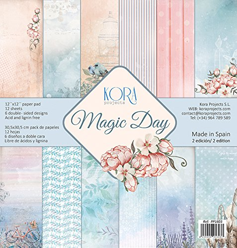 Pack (12) Papeles Scrapbooking Magic Day (30,5 x 30,5 cm)