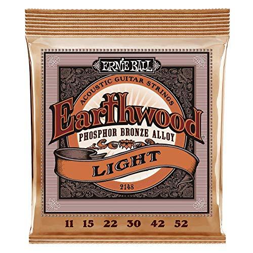 Ernie Ball Earthwood Phosphor Bronze Light (11-52) Acoustic Guitar Strings...