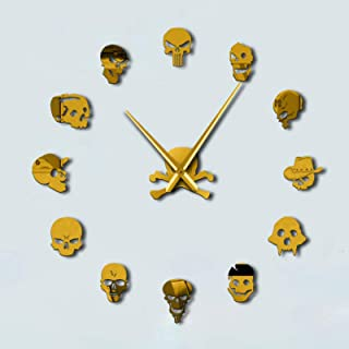 Large 3D Frameless Wall Clock, DIY Wall Clocks Modern Design Acrylic Wall Clocks, Wall Decals Decoration Clocks, for Offic...