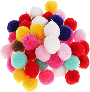 AMLESO 50 peças de pompom para artesanato e decoração criativa