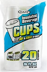 DART Insulated 16 oz. Beverage Cup, 11.9
