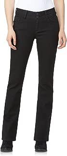 Junior's Instastretch Luscious Curvy Bootcut Jeans, Black, 5