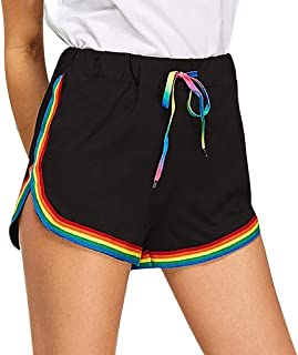 Pantalones Mujer Cortos Deporte Sexy Verano Yoga Running PAOLIAN Pantalones Chandal Vestir Cintura Alta Talla Grande Adolescentes Chica