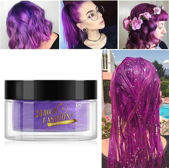 Cutelove Color de pelo Cera Desechable Tinte capilar ...