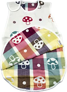 LUXEHOME Cotton Baby Sleep Bag 100% Natural Cotton Wearable Blanket