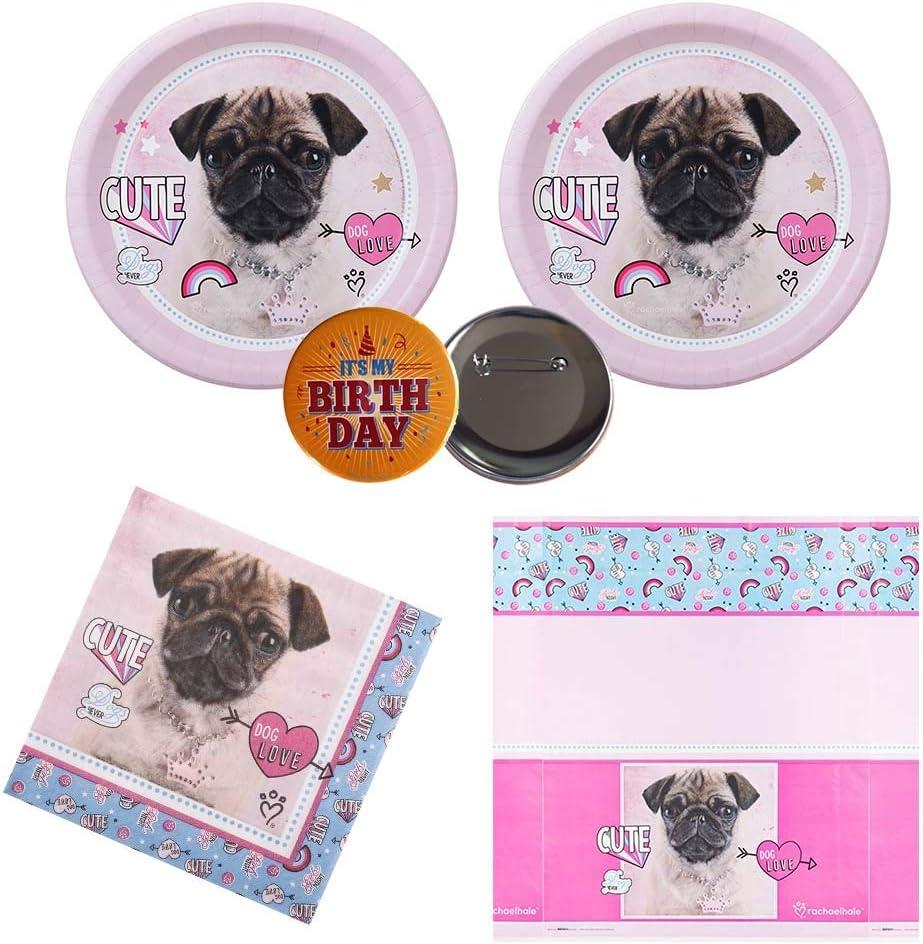 5. Pug Puppy Dog Party Birthday Supplies