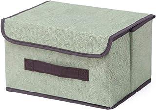 LAANCOO Boîte de Rangement avec Couvercle Panier Organisateur Grand Mêle Porte-Tissu de Rangement pour Bureau Accueil Vert...