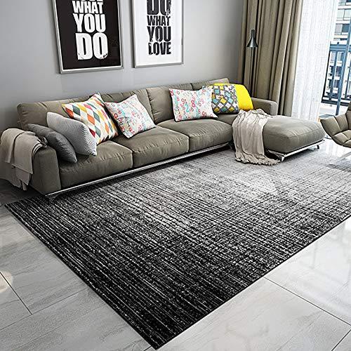 Ledph Alfombra Lavable Diseno Moderno, Shaggy Alfombras Rectangular, Antideslizantes para Dormitorios, Comedores, Habitacion Salon Cocina Pasillo,A,80CM*120CM