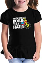 Haase Unlimited They See Me Rollin They Hatin' - Funny Toddler/Youth Ruffle Jersey Tee