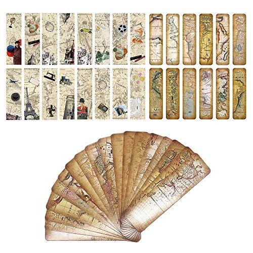 Vintage Style Lesezeichen für Frauen Männer, europäischen berühmten Gebäude Landmark Lesezeichen, inspirierende Reisebuch Marker Karten - beste Qualität Bulk Set (60 Pack)