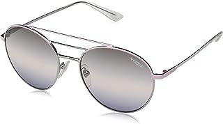 Women's VO4117S Round Metal Sunglasses, Pink/Gunmetal/Pink Gradient Grey Gradient Blue, 54 mm