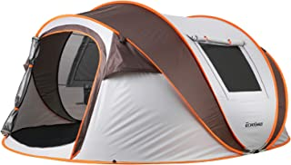 EchoSmile Camping Tent, 4-6 Person Family Pop Up Tent, Waterproof Dome Tent, Windows and Doors on Both Sides, Easy Setup f...