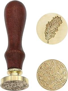 Cachet de Cachet de Cire,Sceau Tampon Vintage Rétro Cachet Sceau avec Manche en Bois cachet de cachet d'enveloppe antique ...