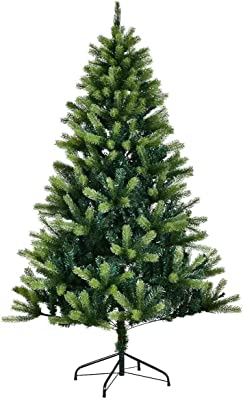 Goplus 6FT Artificial Christmas Tree PE & PVC Mixed Needles Carolina Pine Tree with Metal Stand
