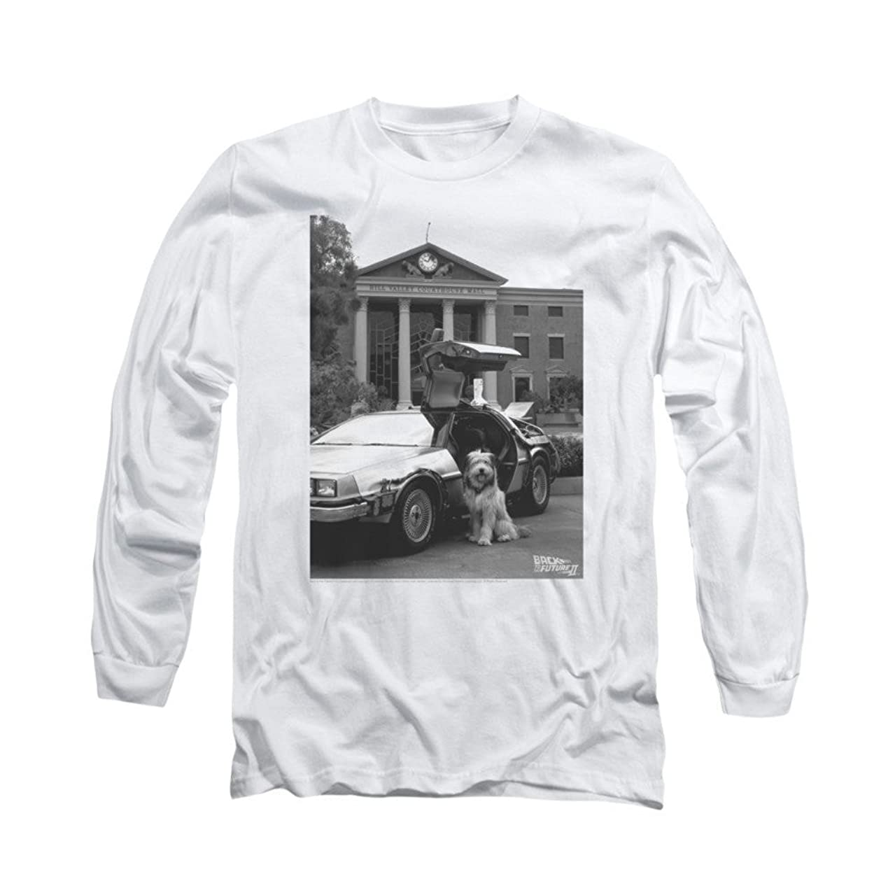 Back To The Future Ii Einstein Adult Long Sleeve T-shirt