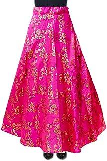 DB ENBLOC Women's Now Umbrella Cut Skirt for Party/Festival Function Pink