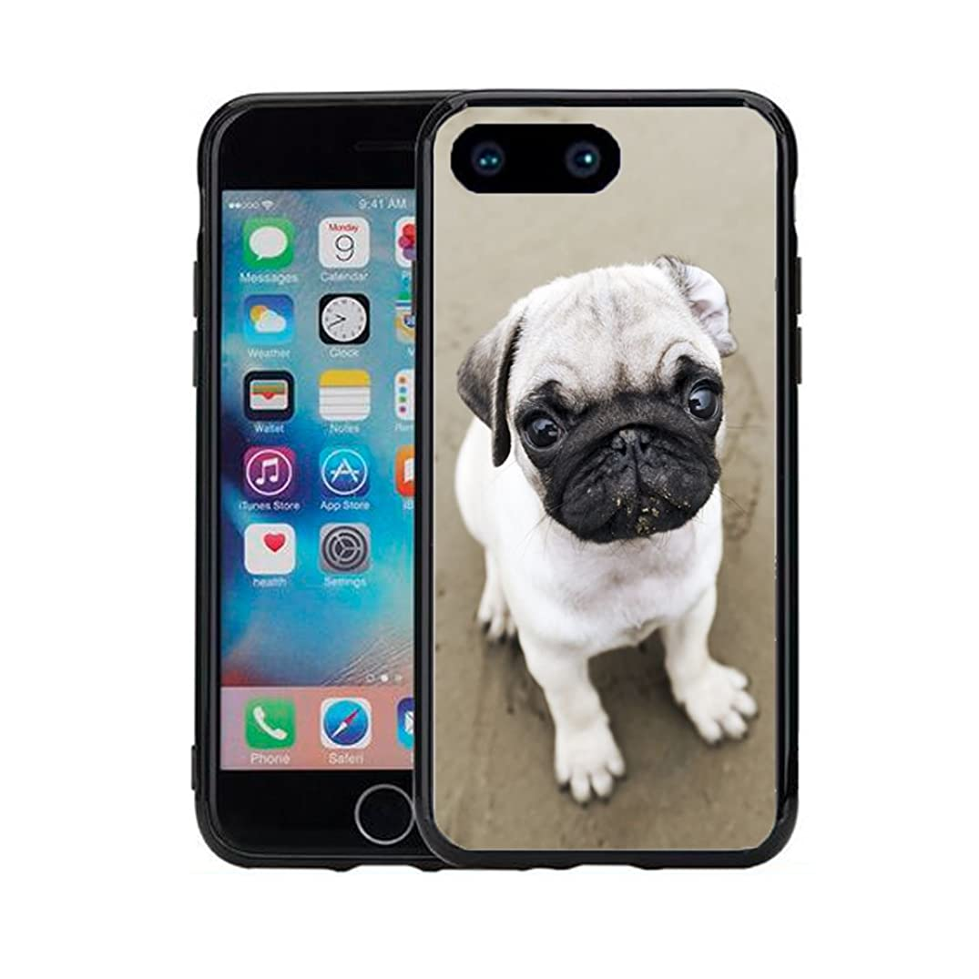 Pug Close up for iPhone 7 Plus (2016) & iPhone 8 Plus (2017) (5.5) Case Cover by Atomic Market
