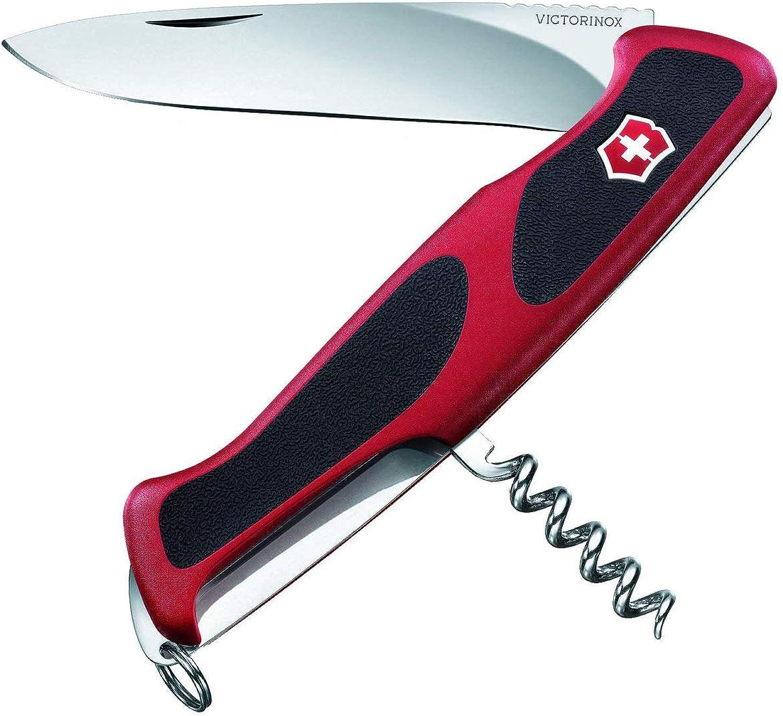 Victorinox Taschenmesser Ranger Grip 52 (5 Funktionen, Feststellklinge, Korkenzieher) rot schwarz B00K3LH29I  Verkauf Online-Shop