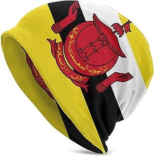 AllPrintInUSA Brunei Flag Knit Beanie Skully Hat Black