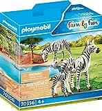 Playmobil Couple de zèbres avec bébé Multicolor 70356